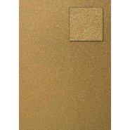 Glitter Cardboard Paper 50x70cm Gold 10 Sheets