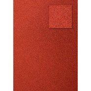Glitter Cardboard Paper 50x70cm Red 10 Sheets