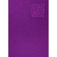 Glitter Cardboard Paper 50x70cm Purple 10 Sheets