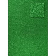 Glitter Cardboard Paper 50x70cm Green 10 Sheets