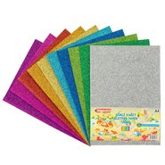 Glitter Paper A4 150 Gsm (Mix 10 Assorted)