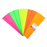 Fluorescent Crepe Paper (Mix 10 Assorted)