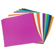Glitter Eva Foam 35x50cm (Mix 10 Assorted)