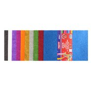 Adhesive Glitter Eva Foam 20x30cm (Mix 10 Assorted)