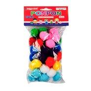 Ponpon 3cm 10 Colours (50 Pcs/Polybag)