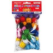 Ponpon 3cm Glitter 10 Colours (50 Pcs/Polybag)