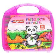 Oil Pastels 18 Colours with Pink Bag