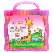 Oil Pastels 24 Colours with Pink Bag
