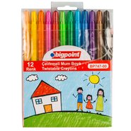 Twistable Wax Crayon 12 Colours