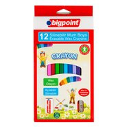 Erasable Wax Crayon 12 Colours