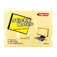 Sticky Notes 75x100mm Yellow