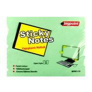 Sticky Notes 75x100mm Green