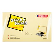 Sticky Notes 75x125mm Yellow