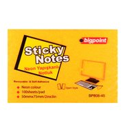 Sticky Notes 75x50mm Neon Orange