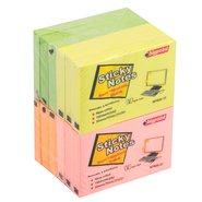 Sticky Notes 75x50mm Mix 4 Neon Colours