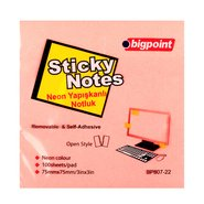 Sticky Notes 75x75mm Neon Pink