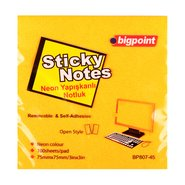 Sticky Notes 75x75mm Neon Orange