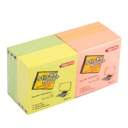 Sticky Notes 75x75mm Mix 4 Neon Colours