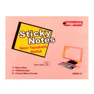 Sticky Notes 75x100mm Neon Pink