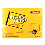 Sticky Notes 75x100mm Neon Orange