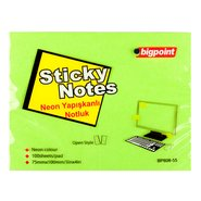 Sticky Notes 75x100mm Neon Green