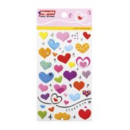 Sticker Lovely Hearts (I Love You-Silver)