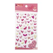Sticker Color Seal Italic Hearts