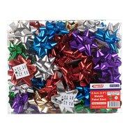 Metallic Colors Star Bows 2.5'',100Pcs/pack