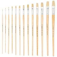 258F/6 Natural Bristle Flat Artist Brush