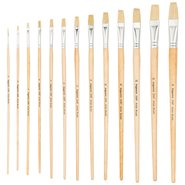 258F/10 Natural Bristle Flat Artist Brush