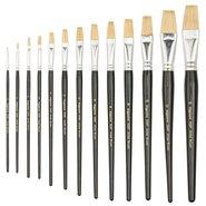 358F/08 White Natural Bristle Flat Brush