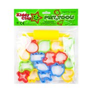 Kiddy Clay 16 Small Molds And 1 Roller