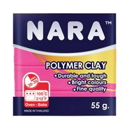 Nara Polymer Clay 55 Gram PM18 Hot Pink