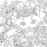 Coloring Canvas Panel 30x30cm Cat