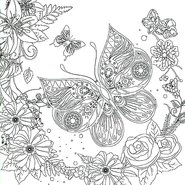 Coloring Canvas Panel 30x30cm Butterfly