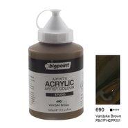 Acrylic Paint 500ml Vandayke Brown