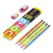 Doms A1 Graphite Pencil12Pcs+Eraser+Sharpener/box